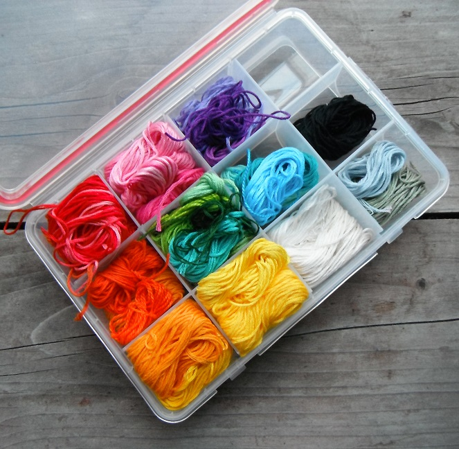 happiness in a box of embroidery floss